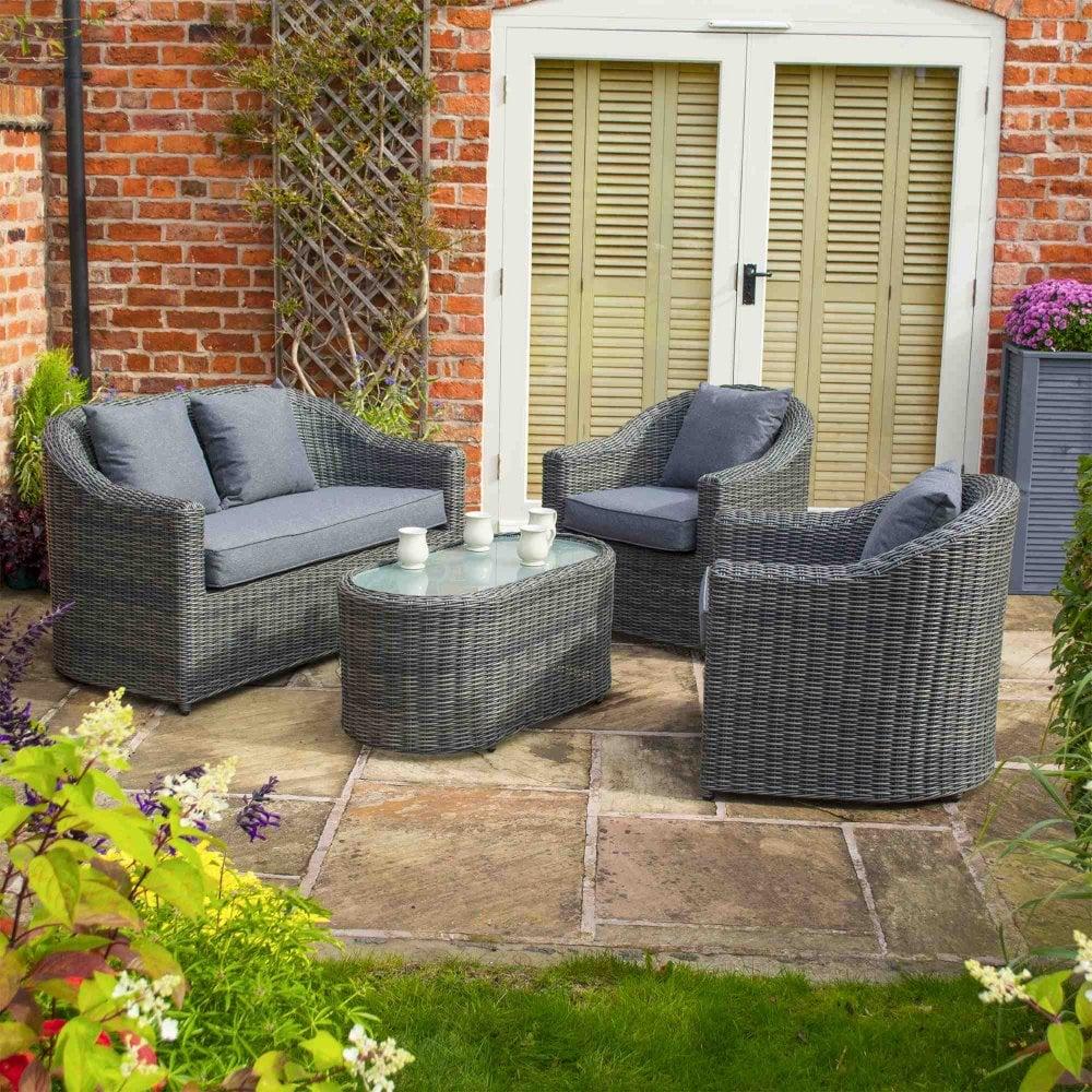 Rowlinson Bunbury Rattan Sofa Set Garden Street