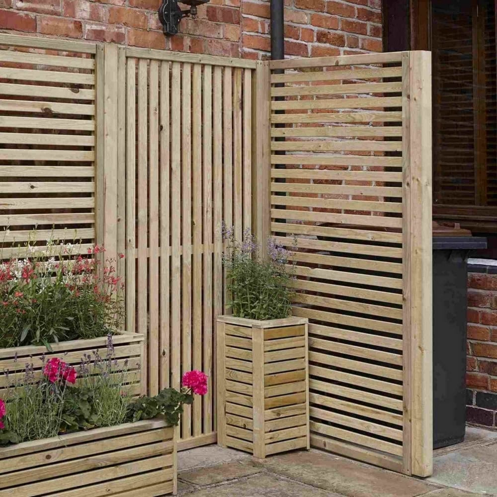 Rowlinson Garden Creations Vertical Slatted Screen | Garden Street