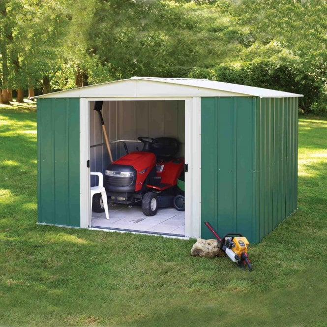 Rowlinson Greenvale Metal Apex Shed 10X8