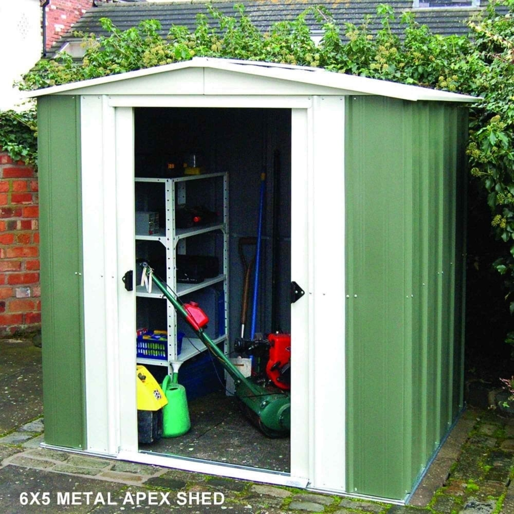 Home Gym In Shed: Rowlinson Greenvale Metal Apex Shed 8X6