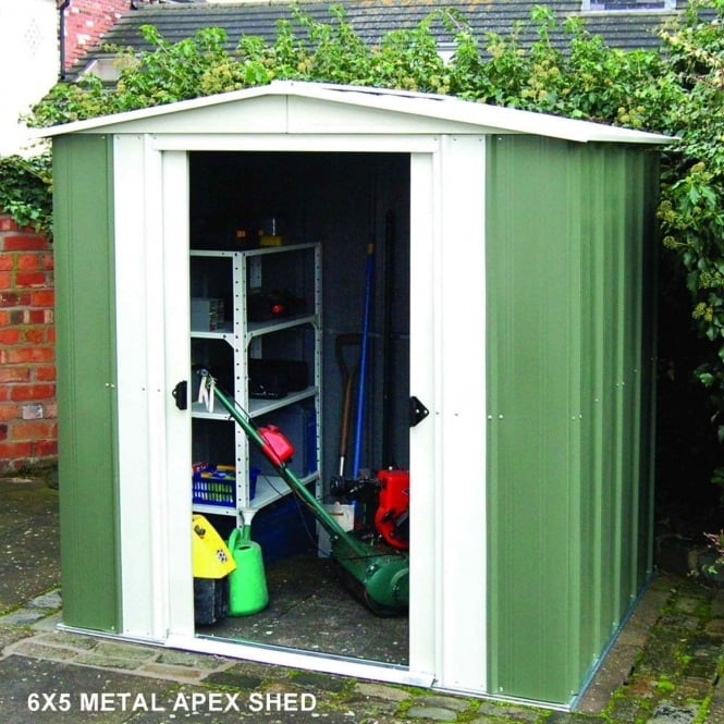 Rowlinson Greenvale Metal Apex Shed 8X6