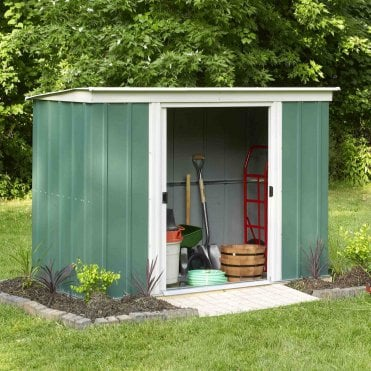 Greenvale Metal Pent Shed 8X4