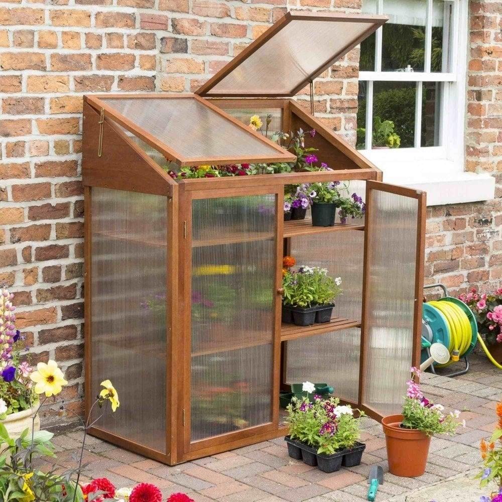 Rowlinson Hardwood Mini Greenhouse | Garden Street