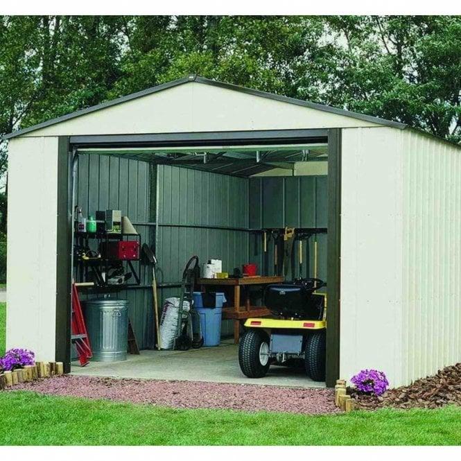 Rowlinson Murryhill Metal Apex Garage 12x10 Garden Street