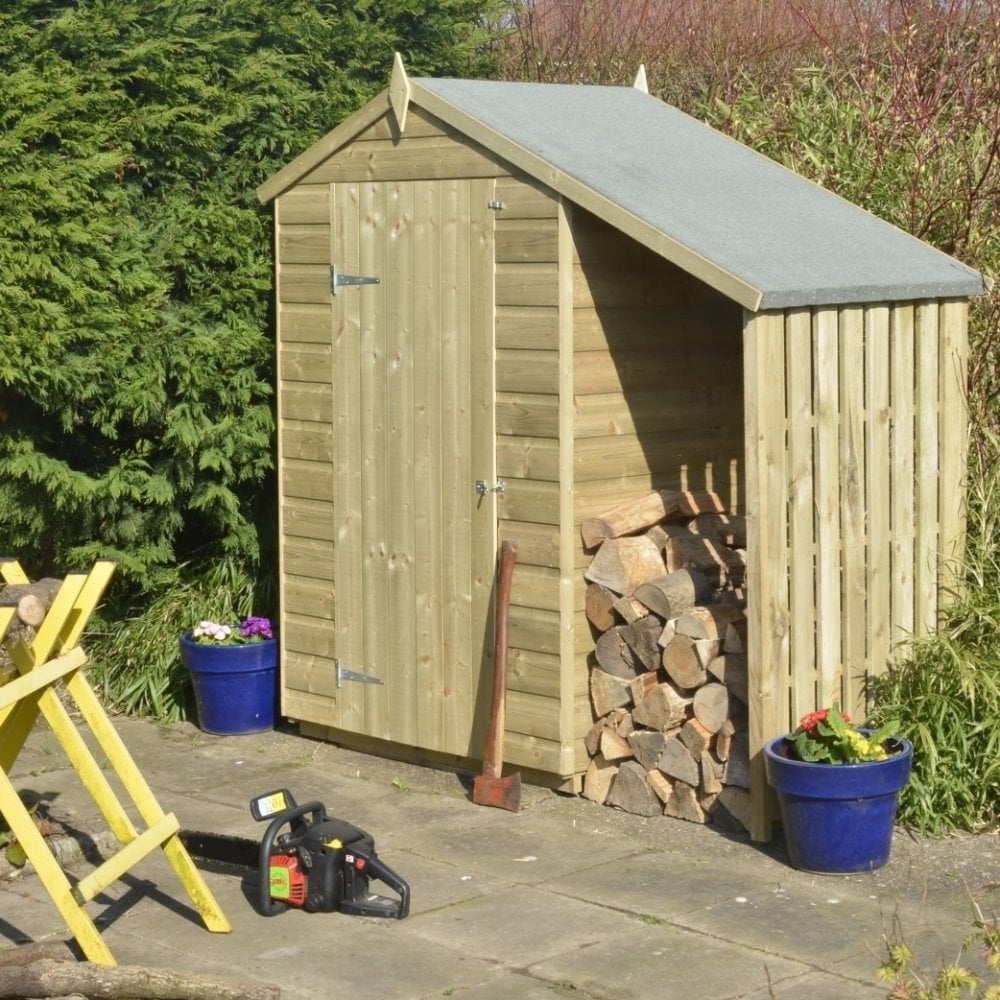 Rowlinson oxford shiplap apex shed with lean to 4x3 for Living room 4x3