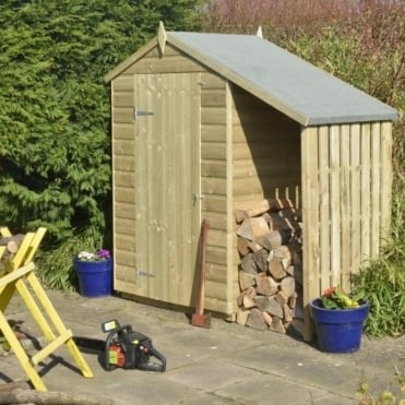 Oxford Shiplap Apex Shed With Lean-To 4X3