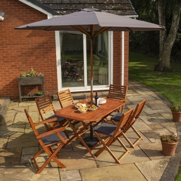 Plumley Hardwood 6 Seater Dining Set