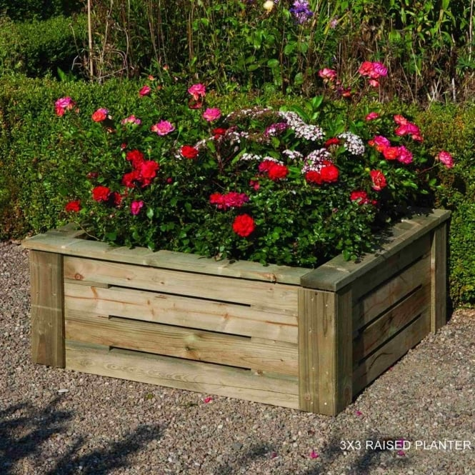 Rowlinson Raised Planter 3X3