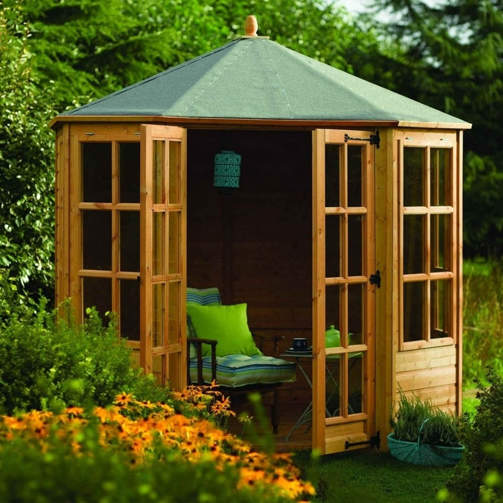 Relaxed Garden Summer House: Rowlinson Ryton Octagonal Summerhouse 8x8