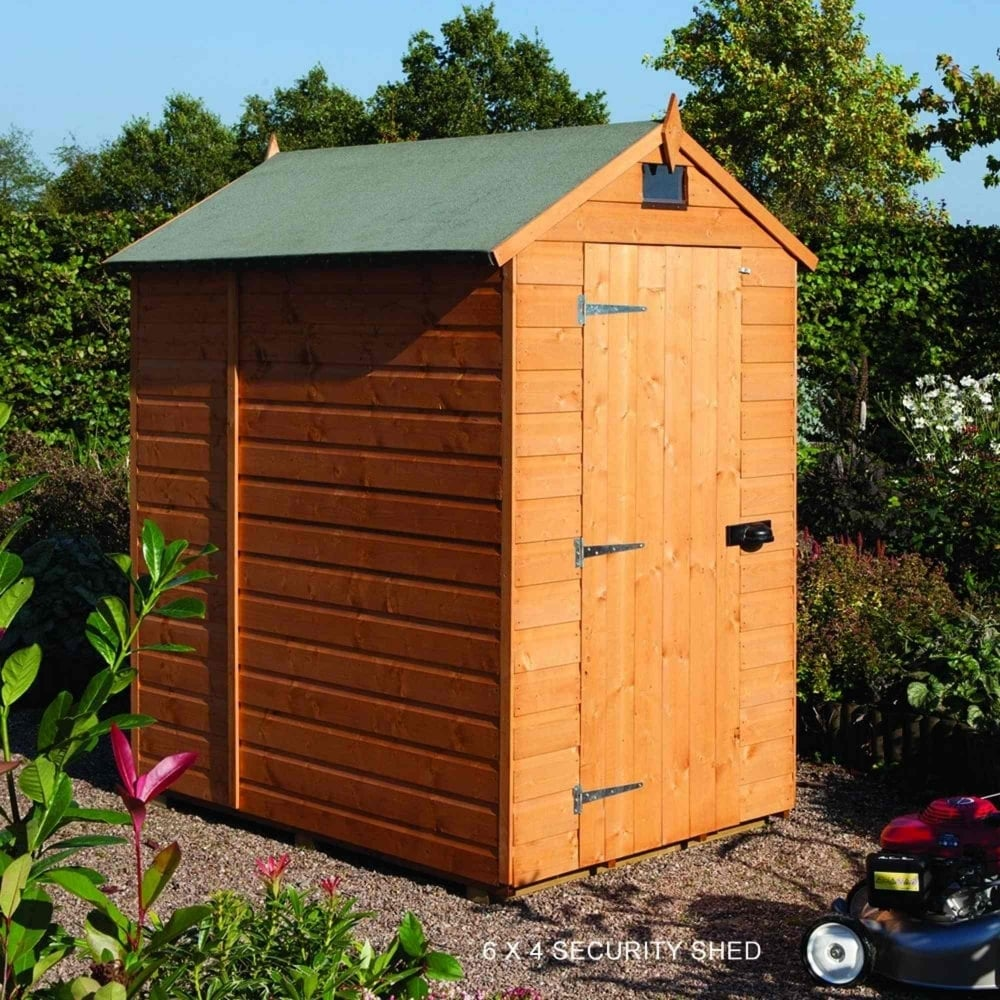 Rowlinson security shiplap apex shed 5x7 garden street for Garden shed 5x7