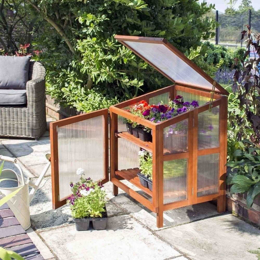 Rowlinson Single Hardwood Cold Frame | Garden Street