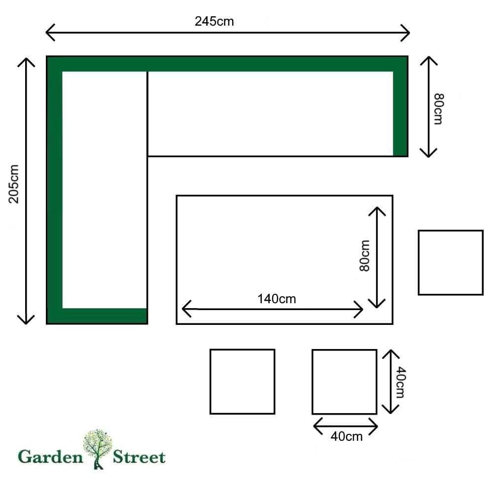 47c054b89401 Rowlinson Thornbury Rattan Corner Dining Set | Garden Street