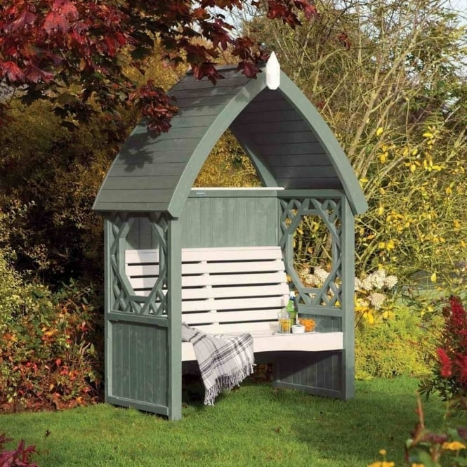 Rowlinson Willow Painted Arbour