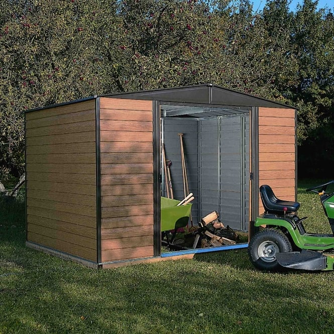 Rowlinson Woodvale Metal Apex Shed 10X6