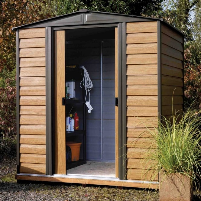 Rowlinson Woodvale Metal Apex Shed 6X5