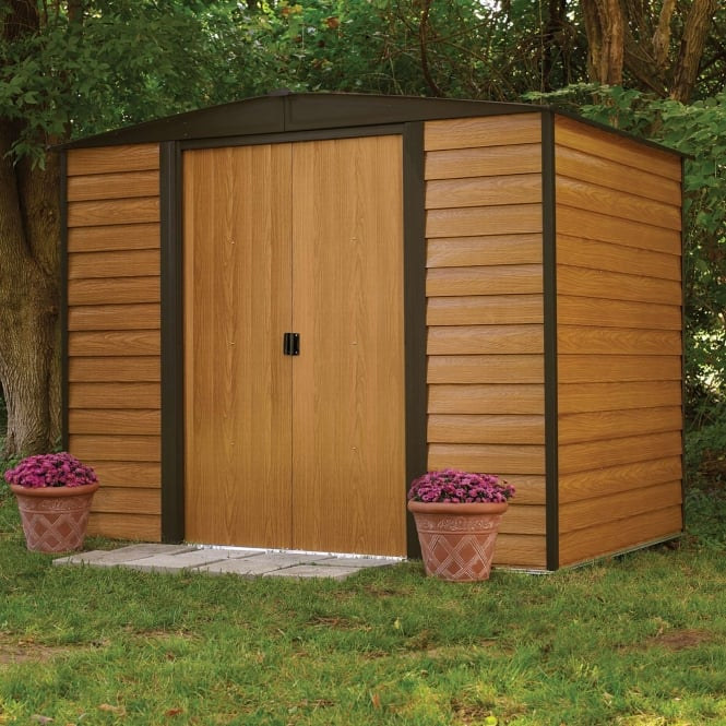 Rowlinson Woodvale Metal Apex Shed 8X6