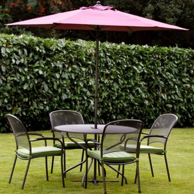 Royal Garden Carlo 4 Seater Dining Set - 105cm Table