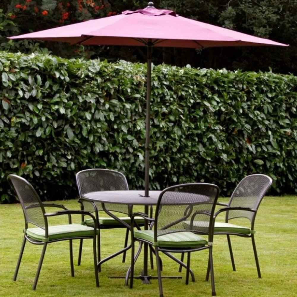 Royal Garden Carlo 4 Seater Dining Set 120cm Table