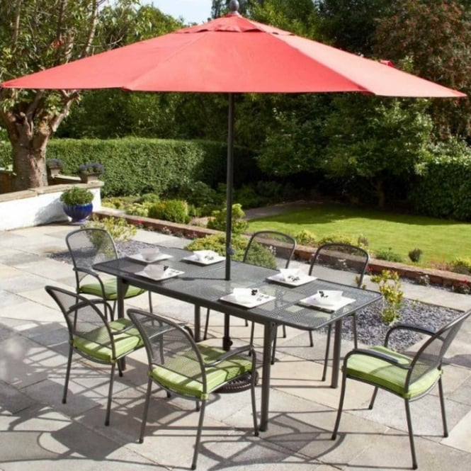 Royal Garden Carlo Rectangular Extending 6 Seater Dining Set