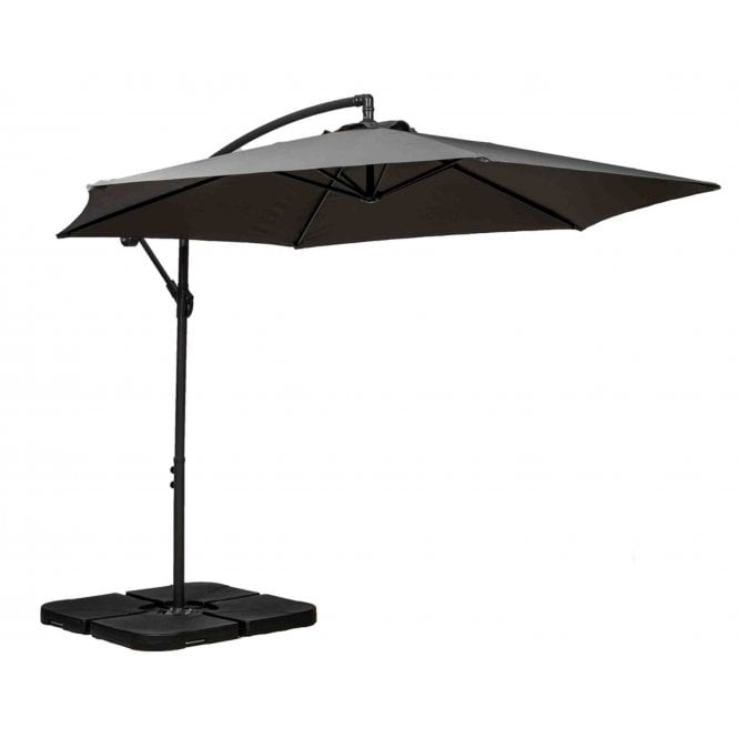 Royalcraft 3m Round Cantilever Parasol with Cross Stand