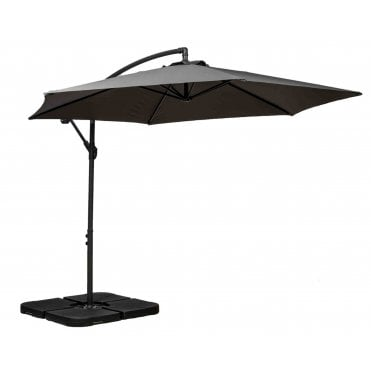 3m Round Cantilever Parasol with Cross Stand
