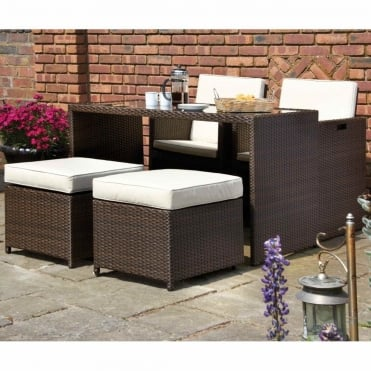 Cannes 4 Seater Cube Set