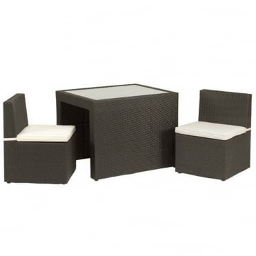 Cannes Cube Rattan Breakfast Bistro Set
