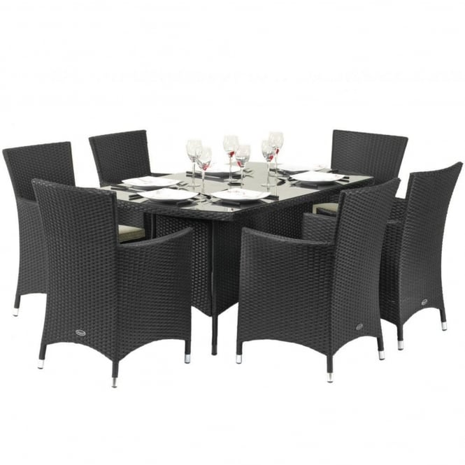 Royalcraft Cannes Rectangular 6 Seater Dining Set