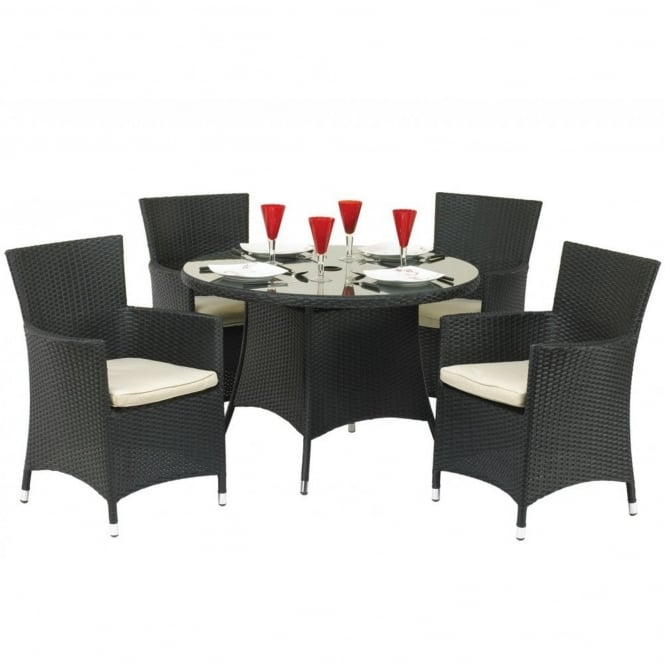 Royalcraft Cannes Round 4 Seater Dining Set