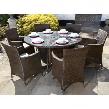 Cannes Round 6 Seater Dining Set