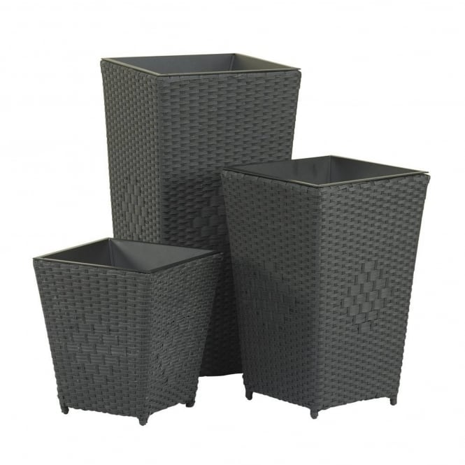 Royalcraft Cannes Wicker Set of 3 Planters