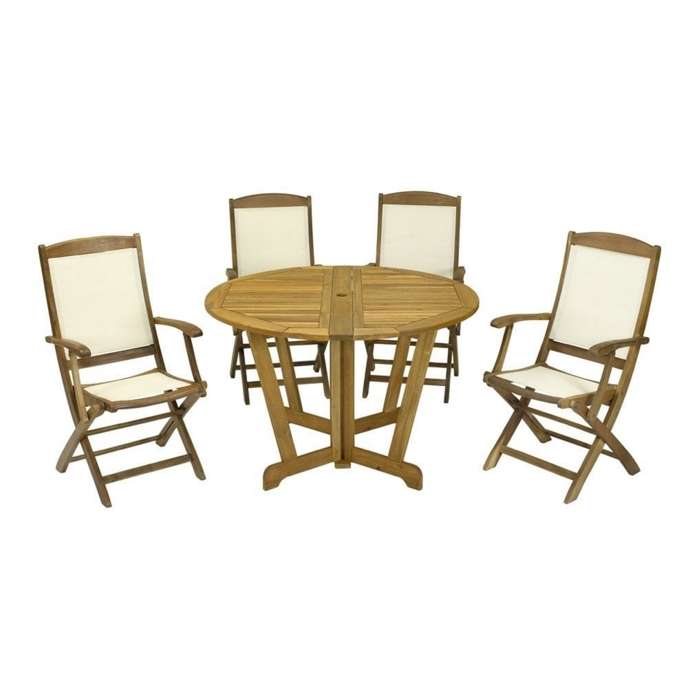 royalcraft henley round 4 seater dining set garden street