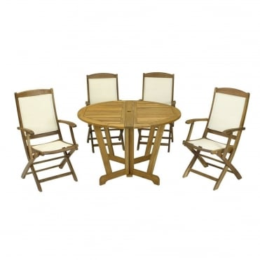Henley Round 4 Seater Dining Set
