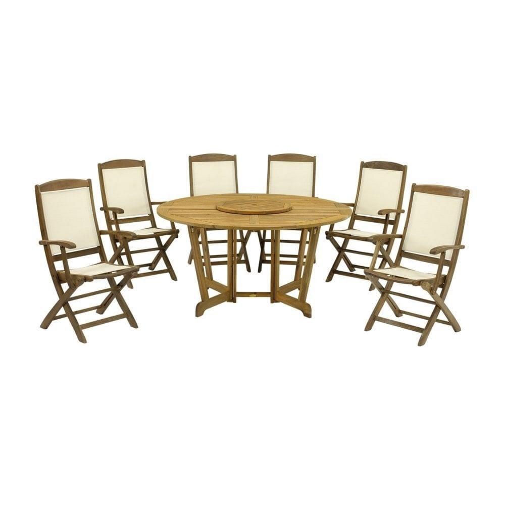 Royalcraft Henley Round 6 Seater Dining Set Garden Street