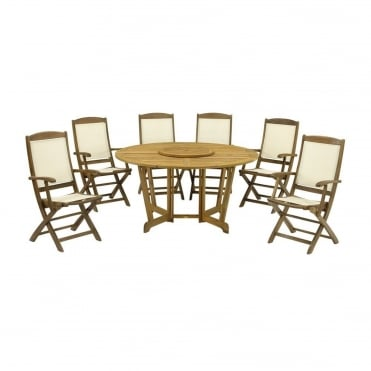 Henley Round 6 Seater Dining Set