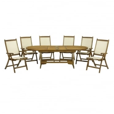 Henley Round/Oval Extending 6 Seater Dining Set