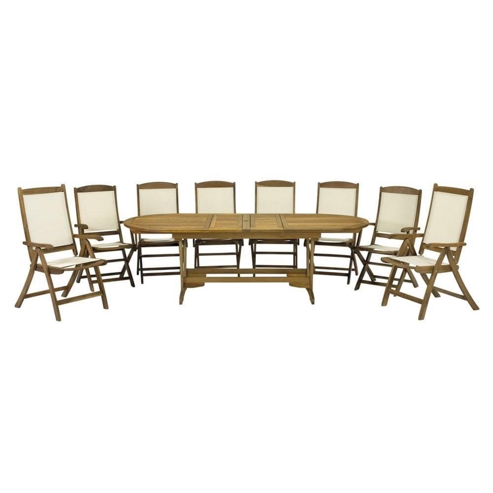 Royalcraft Henley Round/Oval 8 Seater Dining Set