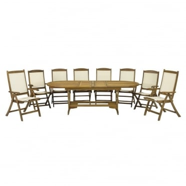 Henley Round/Oval Extending 8 Seater Dining Set