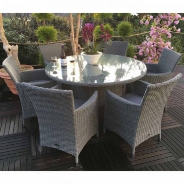 Madison 6 Seater Round Dining Set