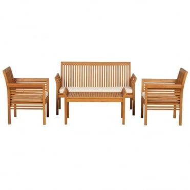 Manhattan 4 Piece Wood Coffee Set