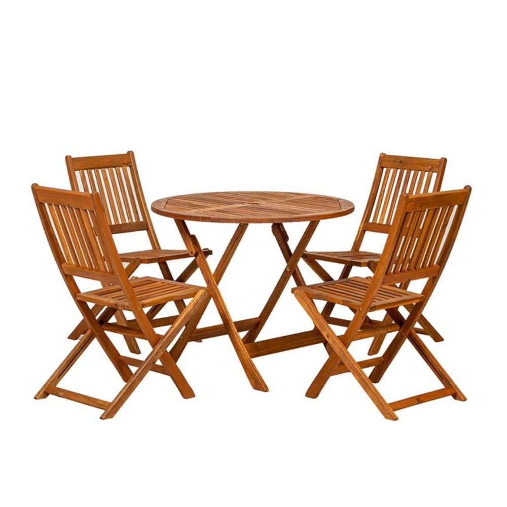 Of Set Chairs 4 Brownfoldingdining: Royalcraft Manhattan Dining Set With Folding Chairs