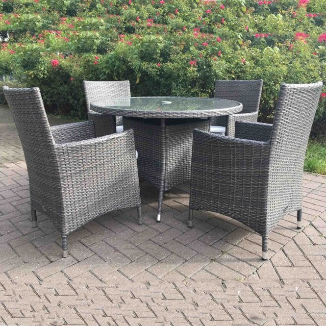 Royalcraft Marlow 4 Seater Round Dining Set