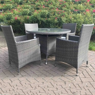 Marlow 4 Seater Round Dining Set
