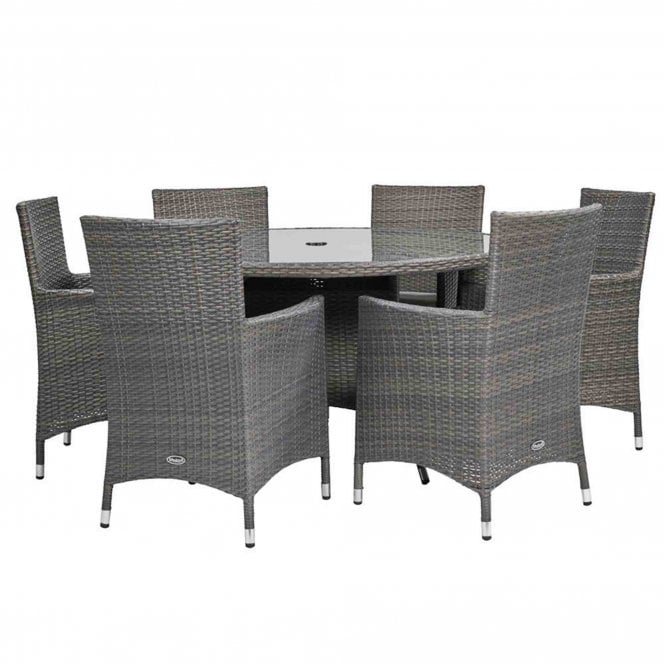 Royalcraft Marlow 6 Seater Round Dining Set