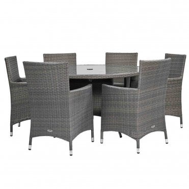 Marlow 6 Seater Round Dining Set