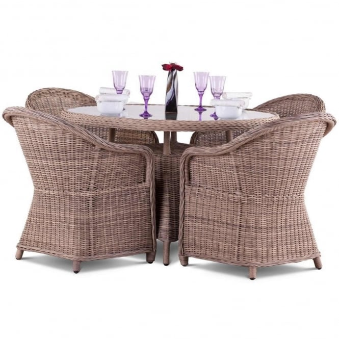 Royalcraft Modena Relax Round 4 Seater Dining Set