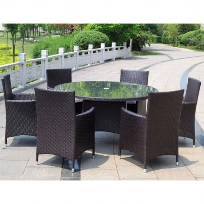 Royalcraft Naples 6 Seater Round Dining Set
