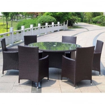 Naples 6 Seater Round Dining Set