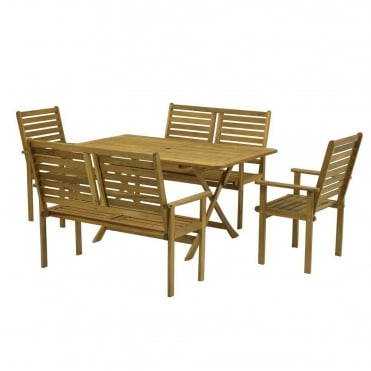 Napoli Rectangular 6 Seater Dining Set