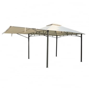 Steel Gazebo With Awning 3.3mx3.3m